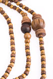 Necklace of wooden Royalty Free Stock Images