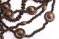 Necklace of wooden Stock Photography