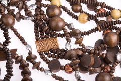 Necklace of wooden Royalty Free Stock Photo