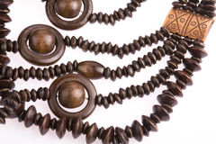 Necklace of wooden Royalty Free Stock Image