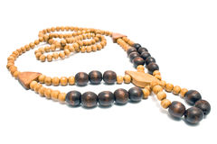 Necklace with wooden beads Stock Photo