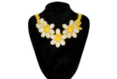 Necklace with yellow stones Stock Photo