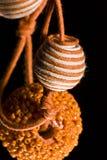 necklace2 πορτοκαλί μαργαριτάρι Στοκ Εικόνα