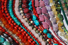 Necklaces. Colorful necklaces - variety of minerals Stock Photos
