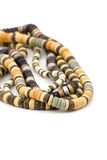 Necklaces of alabaster beads Royalty Free Stock Image