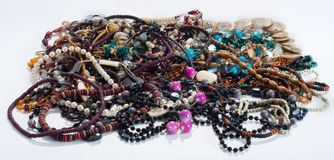 Necklaces and beads Stock Photos