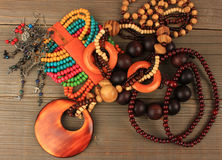 Necklaces, bracelets, earrings Stock Images