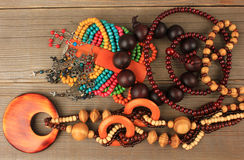 Necklaces, bracelets, earrings Royalty Free Stock Image