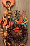 Necklaces, bracelets, earrings Stock Photos