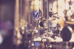 Necklaces and jewellery Royalty Free Stock Images