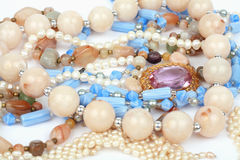 Necklaces jewelry Royalty Free Stock Photo