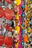 Necklaces on a market stall Royalty Free Stock Photography