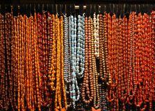 Necklaces pearls Stock Photos