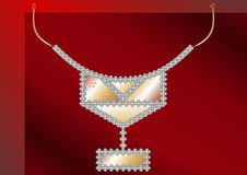 Necklaces Platinum ball. Royalty Free Stock Photo