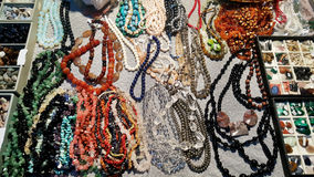 Necklaces of semi precious stones. Necklaces  of natural background semi precious gemma stones Stock Image