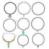 necklaces set Stock Image