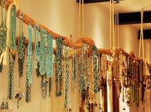 Necklaces in a souvenir shop Royalty Free Stock Photos