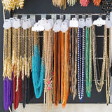 Necklaces. Various modern bijou necklaces for sale Stock Image