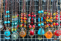 Necklaces. From the village market Royalty Free Stock Image