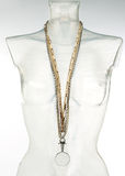 Necklases on a mannequin Royalty Free Stock Photos