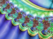 Neckless fractal. Detail of neckless ornament fractal Stock Photos