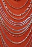 neckless silver Royaltyfria Bilder