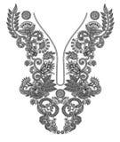 neckline μόδας κεντητικής Στοκ εικόνα με δικαίωμα ελεύθερης χρήσης