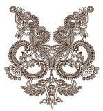 neckline μόδας κεντητικής Στοκ Φωτογραφία