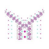 Neckline design in ethnic style for fashion Royalty Free Stock Images