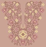 Neckline embroidery (cross-stitch) Royalty Free Stock Image