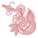 Neckline embroidery design Stock Image