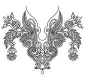 Neckline embroidery fashion. Vector illustration Stock Photo