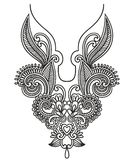 Neckline embroidery fashion. Vector illustration Royalty Free Stock Images