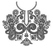 Neckline embroidery fashion. Vector illustration Stock Photos