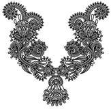 Neckline embroidery fashion. Neckline flower design embroidery fashion Stock Photo