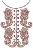 Neckline embroidery fashion Stock Photo
