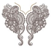 Neckline embroidery fashion. Ornamental neckline embroidery fashion design Stock Photos