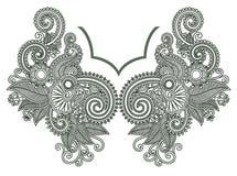 Neckline embroidery fashion vector illustration
