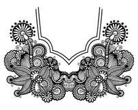 Neckline embroidery fashion Royalty Free Stock Photos