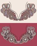 Neckline embroidery fashion Stock Photos