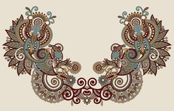 Neckline embroidery fashion Stock Images