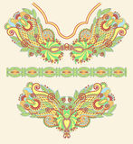 Neckline embroidery fashion. Ukrainian traditional pattern Royalty Free Stock Photo