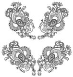 Neckline embroidery fashion. Ukrainian traditional. Pattern, vector illustration Stock Images