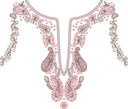 Neckline illustration  design fashion. Art Royalty Free Stock Images