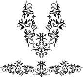 Neckline illustration  design fashion. Art Royalty Free Stock Photos