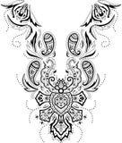 Neckline illustration  design fashion. Art Stock Photo