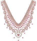 Neckline illustration  design fashion. Art Stock Images