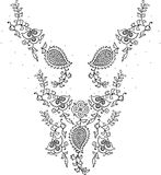 Neckline illustration  design fashion. Art Royalty Free Stock Photography