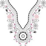 Neckline illustration  design fashion. Art Stock Photography