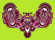 Neckline ornate floral paisley embroidery fashion Royalty Free Stock Photography